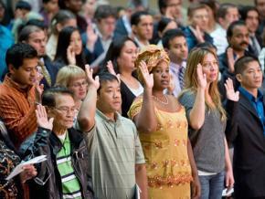 A naturalization ceremony