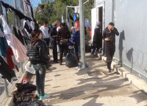 Inside the refugee camp at Samos