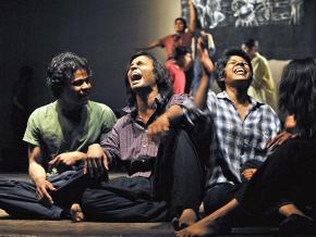A performance of the play Offtrack in New Delhi