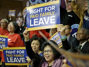Demonstrators rally for paid family leave in New York