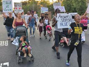 Protesters march against police brutality in Sacramento, California