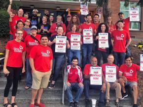 Seattle teachers rally for a fair contract