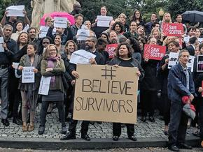 Standing in solidarity with Dr. Christine Blasey Ford in Washington, D.C.