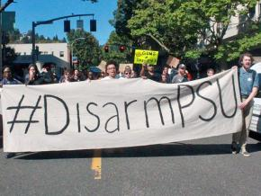 Students march against violence by campus police in Portland, Oregon