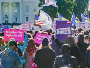 Protesters stand up to Trump's transphobic attacks
