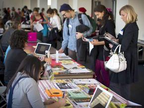 Students attend a nonprofit career fair in Chicago