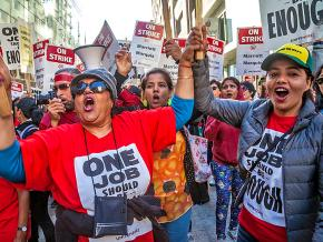 Striking hotel workers rally in San Francisco