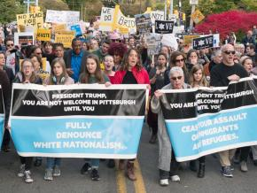 Marching in Pittsburgh against the anti-Semitic massacre at the Tree of Life synagogue