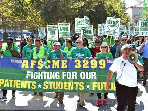 University of California staff strike against outsourcing and exploitation