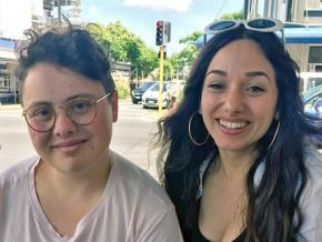 Justine Sachs (left) and Nadia Abu-Shanab