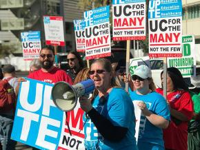 Campus workers strike at the University of California