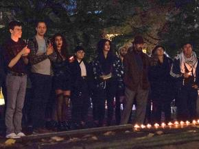 A vigil at Portland State University for the victims of the Tree of Life synagogue massacre