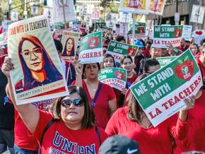 Los Angeles teachers on the march to save public education