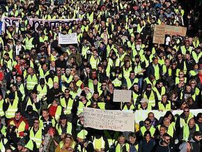 "A mass ""yellow vest"" demonstration in Marseille, France"
