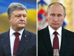 Left: Petro Poroshenko; right: Vladimir Putin