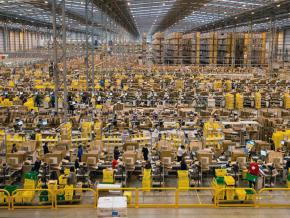 A massive Amazon fulfillment center