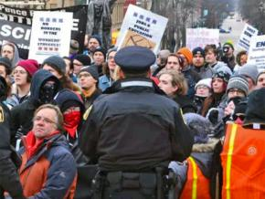 Anti-fascist protesters stand up to the far right in Madison, Wisconsin