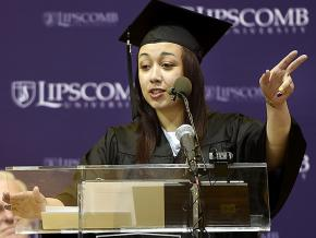 Cyntoia Brown delivers a Commencement speech at Lipscomb University in Nashville