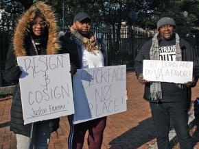 Protesters in Richmond, Virginia, demand Ralph Northam's resignation