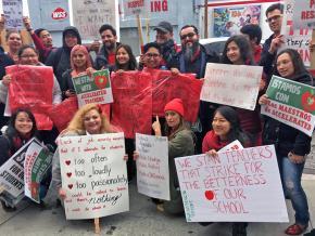 Charter school teachers hit the picket lines in Los Angeles