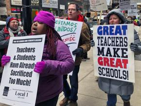 Charter school teachers strike for the schools students deserve