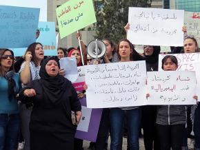 Protesters take to the streets on International Women's Day in Beirut, Lebanon