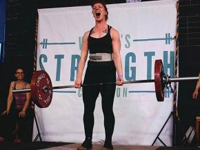 Weightlifters in Brooklyn, New York, participate in Pull for Pride Day for LGBTQ rights
