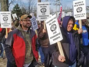 On the picket line at Webtec in Erie