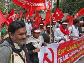 On the march in New Delhi against the assault on the Indian working class