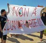 """Opponents of Islamophobia march to a French beach to protest the """"burkini"""" ban (Fadia Dela)"""