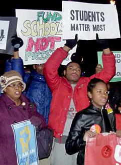 Philadelphia students and parents march to defend funding for public schools