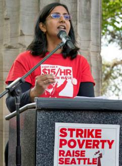 Kshama Sawant on the campaign trail