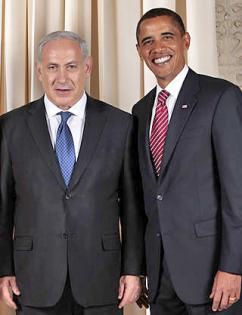 Barack Obama with Israeli Prime Minister Benjamin Netanyahu (Lawrence Jackson)
