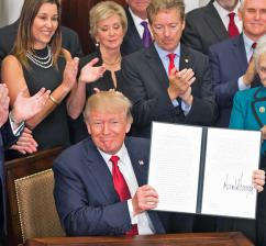 Donald Trump signs an executive order on health care (Andrea Hanks | WhiteHouse.gov)
