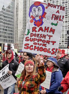 CTU members march for fully funded schools during the April 1 strike and day of action (Bob Simpson)