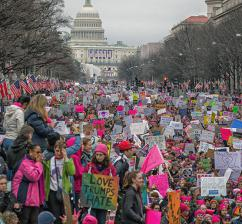 The streets of Washington, D.C., were filled for the Women's March (Mobilus In Mobili | flickr)