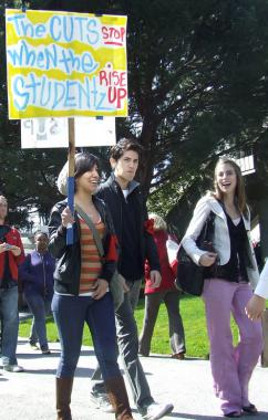 Students are taking a stand against budget cuts all across the country (Chris Kocher)