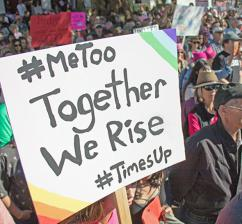 Protesters take to the streets for the 2018 Women's March in Santa Barbara, California (Louise Palanker | flickr)