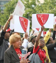 Washington D.C. teachers rally against cuts and layoffs