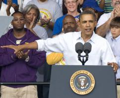 President Obama makes the case for his jobs proposal in Detroit at a Labor Day rally