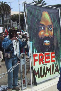 Protesting in support of Mumia Abu-Jamal in San Francisco (Danny Howard)