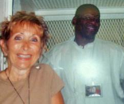 Caitlin Adams visiting with Texas death row prisoner Rodney Reed