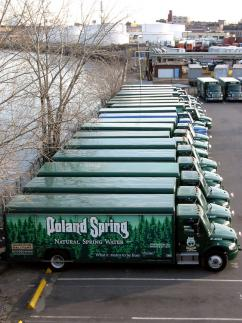 Trucks for Nestlé's Poland Spring
