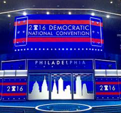 The Democratic convention site in Philadelphia
