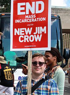Protesters demand an end to mass incarceration