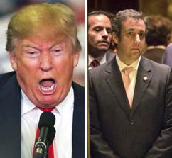 Left to right: Jared Kushner, Donald Trump and Michael Cohen