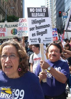 On the march for immigrant rights (Sarah Knopp   SW)