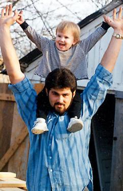 Cameron Todd Willingham with his daughter Amber