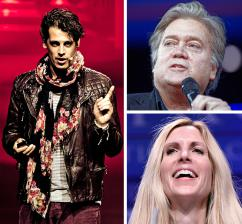 Clockwise from left: Milo Yiannopoulos, Steve Bannon and Ann Coulter