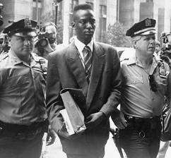 Yusef Salaam is led into court as a defendant in the Central Park Five case